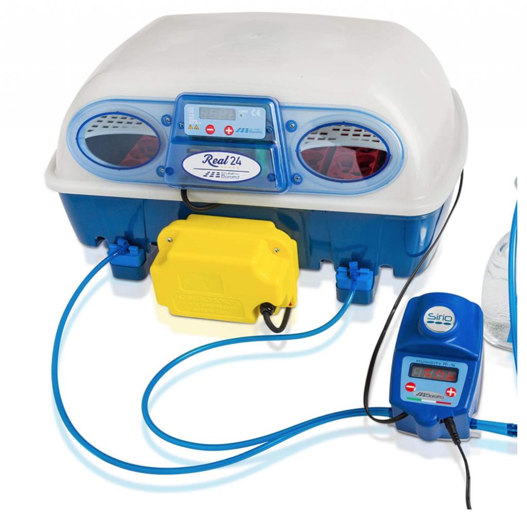 Borotto REAL 24 Expert - Incubatrice Automatica Professionale Brevettata, con Umidificatore Automatico Sirio - per 24 Uova o 96 Uova Piccole