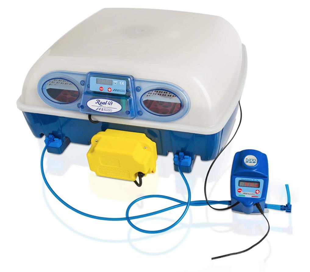 Borotto REAL 49 Expert - Incubatrice Automatica Professionale Brevettata, con Umidificatore Automatico Sirio - per 49 Uova o 196 Uova Piccole