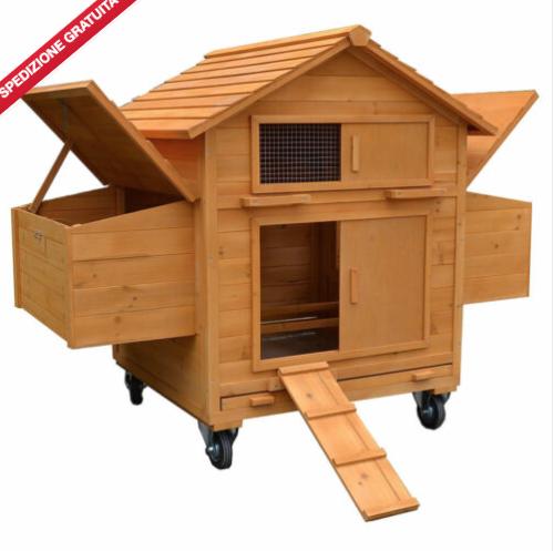 pollaio mobile in legno