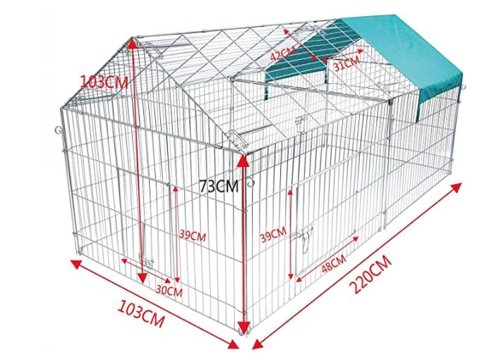 recinto per galline in metallo da esterno